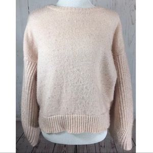 Nasty Gal Pink Fuzzy Wool Blend Sweater Size Small